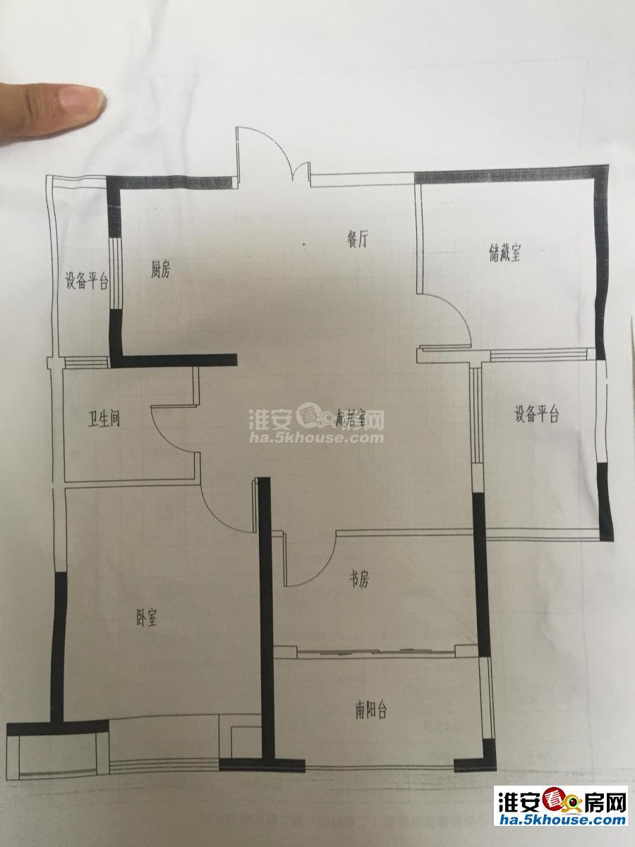 中南22楼采光极好,钥匙房随时看,可两房改三房