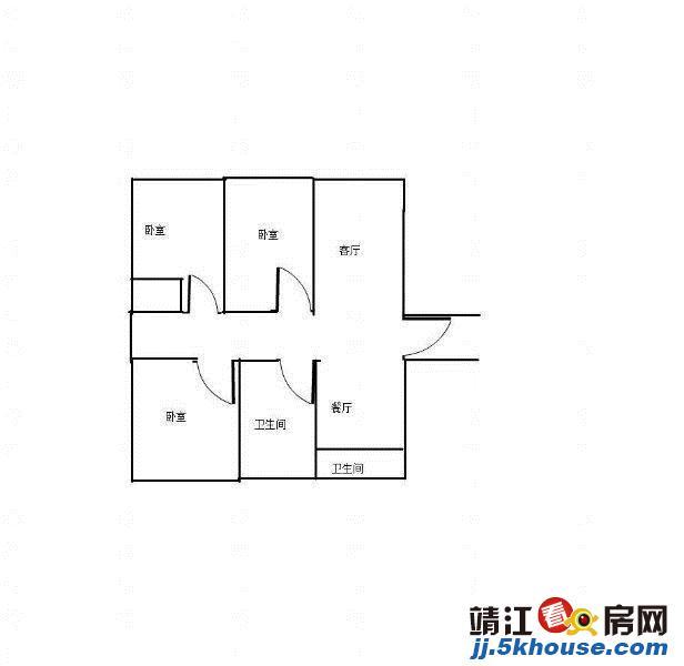 城南大院 3室2厅2卫 边户