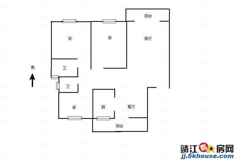外国语 中天城市花园东区 精装3房2卫 有有车位