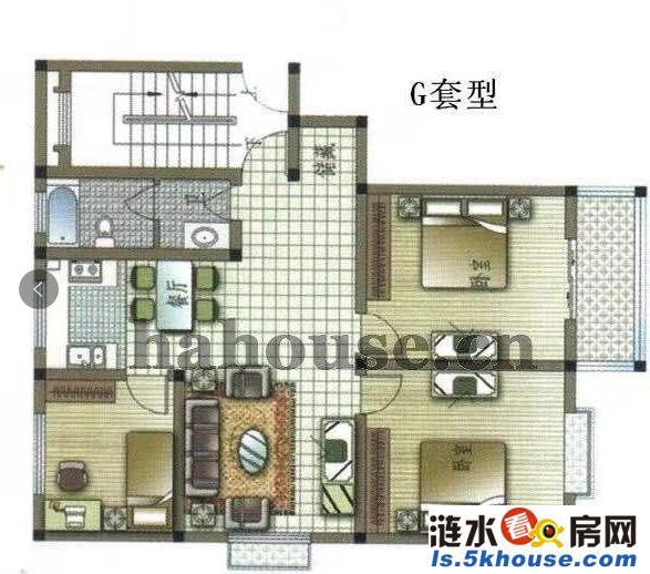 清华苑,电梯房,温馨大两室,全新装修,家电齐全,提包入住
