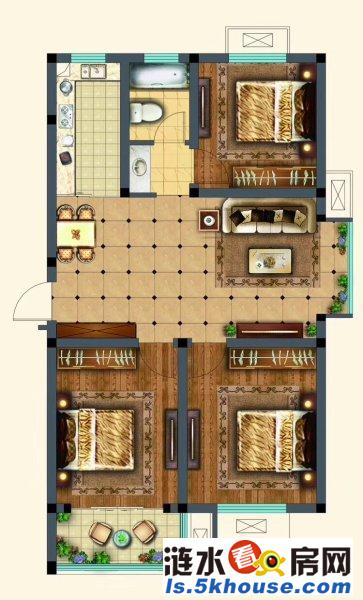 白鹭花园多层二楼 精装修送车库 小三室 满五唯一税费少有学位