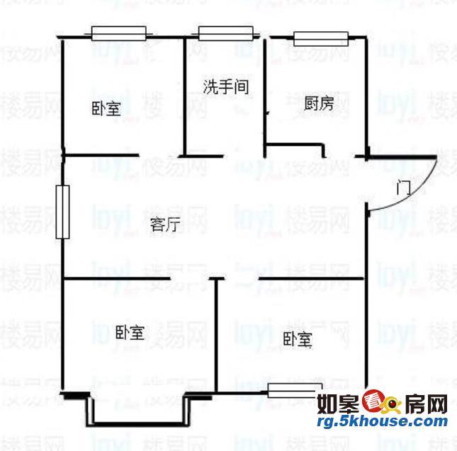 金磨华庭 48万 3室2厅1卫 精装修 ,难找的好房子