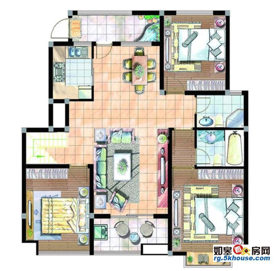 美华公馆 68万 3室2厅1卫 精装修 非常安静,笋盘出售!