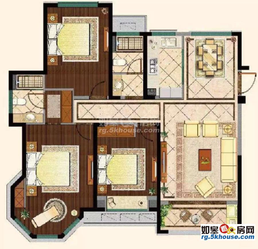 想置业的朋友看一下,中南世纪城 106万 4室2厅2卫 毛坯 业主急售!