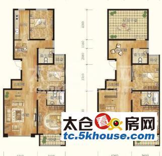 楼层好,视野广,学位房出售,桃园三村167万 5室4厅3卫 精装修