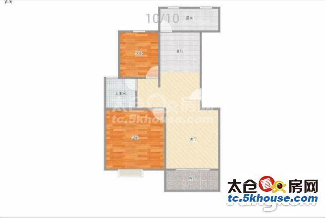 怡景南园 85万 2室2厅1卫 精装修 高品味生活从这里开始!