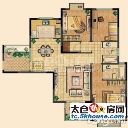 超低单价,不临街,随时腾房都会之光 220万 3室2厅2卫 精装修 !