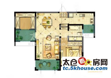 业主诚心出售,万鸿塞纳丽舍 36万 2室2厅1卫 精装修 ,急急急!