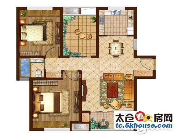 东林佳苑 51万 3室2厅1卫 精装修 ,此房只应天上有!人间难得见一回啊!