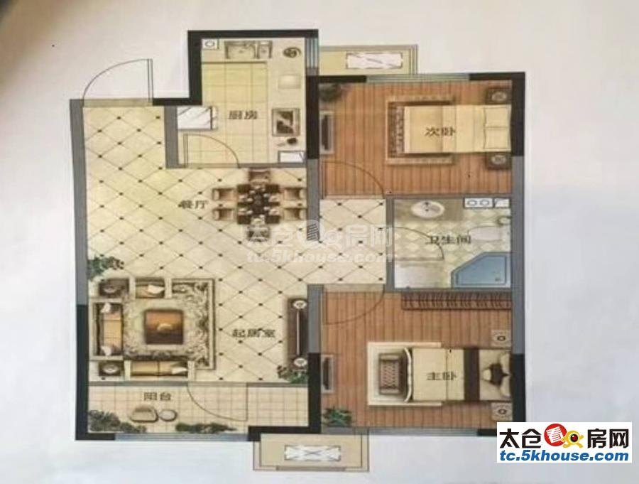 大庆锦绣新城 112万 2室2厅1卫 精装修 !