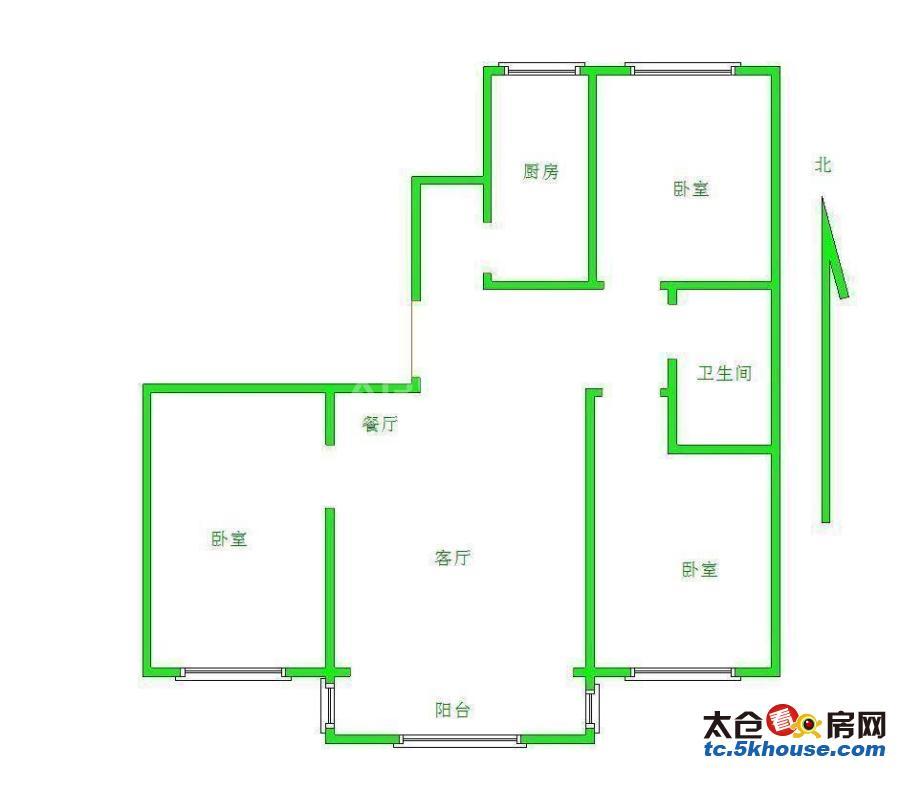 城北高新区板块精装大三房低总价南北通透房东急售可议价
