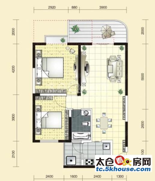 华盛八园 90万 2室2厅1卫 精装修 ,难找的好房子