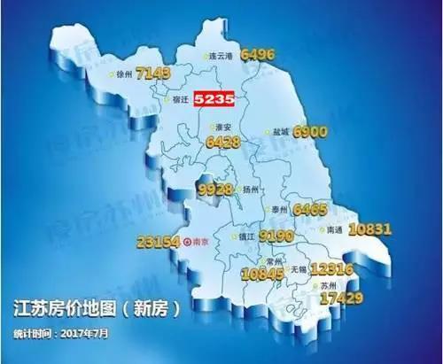 7月江苏13城房价地图新鲜出炉 太仓是高是低?
