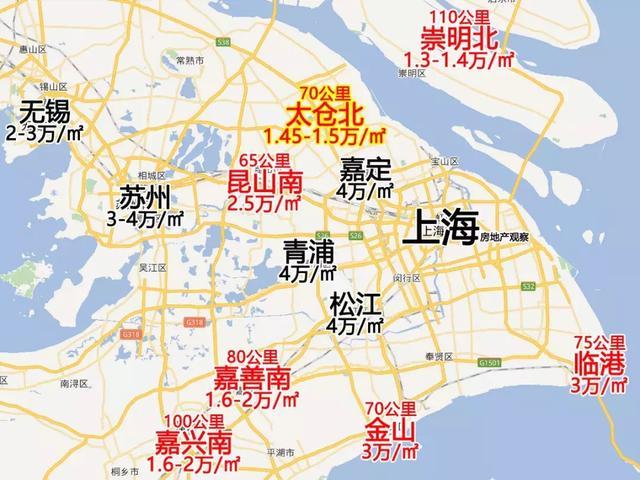 距离上海人民广场70公里车程的太仓北,目前精装修新房的价格只要1.