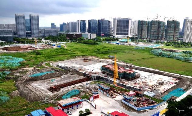 太仓中心公园、太仓南站最新工程进展