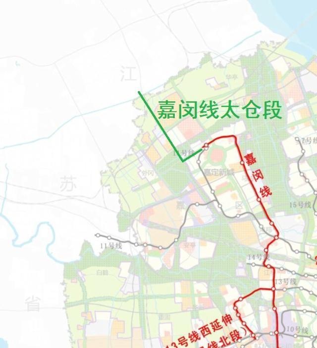 江苏省对接上海市轨道交通计划公布 嘉闵线还将要向北延伸到太仓