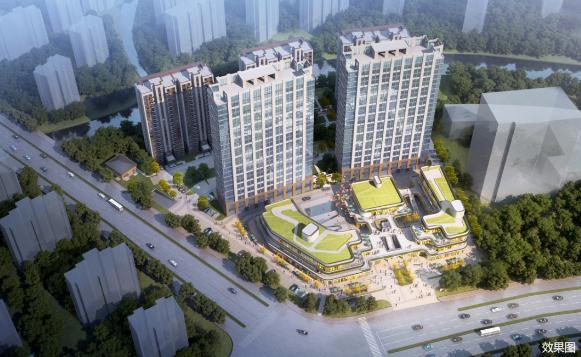 商务办公、商业休闲、居住生活为一体的高端商住混合项目——镜湖点金商务广场