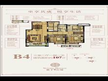 诺丁公馆首付45万   大3房  精装修 ,无社保也能买