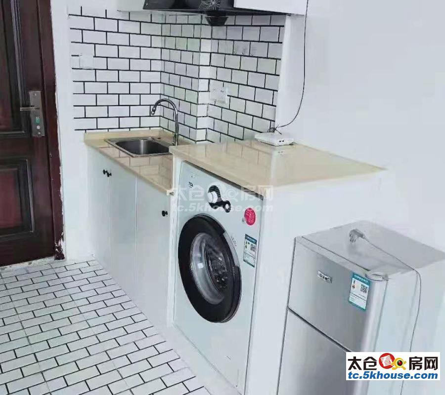 生活方便,沛波公寓 1200元/月 1室1厅1卫 精装修 ,部分家私电器