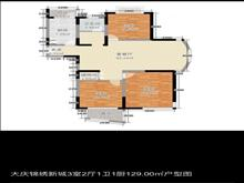 的地段,大庆锦绣新城 140万 3室2厅1卫 简单装修