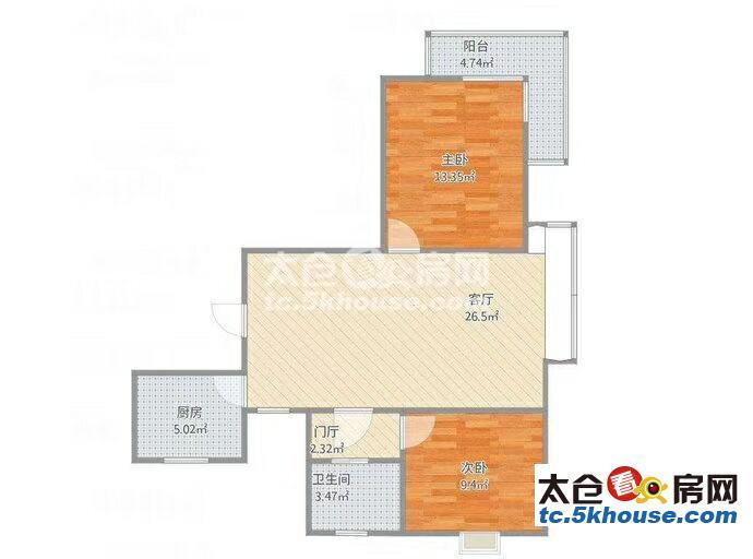 骏园时代广场 1500元 1室1厅1卫 精装修,超值家具家电齐全