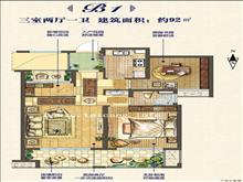 区,低于市场价,海域天境 180万 3室2厅1卫 毛坯