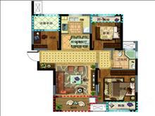 紫桂苑2500元/月 3室2厅1卫精装修 ,南北通透,地铁站,南北通透有钥匙
