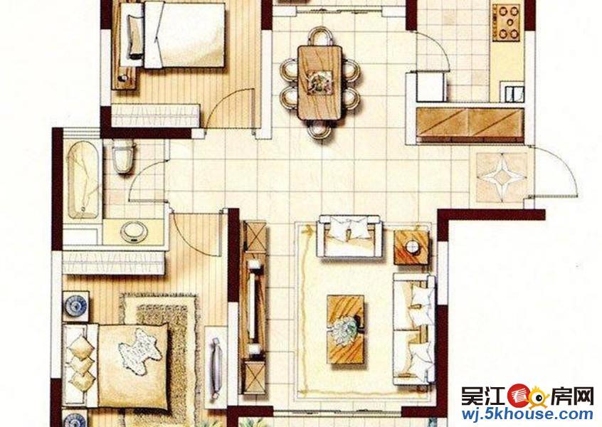 大发未来苑 精装修两房 满5唯一 中间楼层 带车库通透