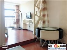 押一付一万亚广场公寓 真实图片干净清爽生活便利小清新风格机会