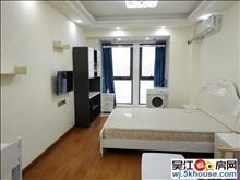 吾悦广场公寓房一室一厅一卫一厨40平大房 二人住 1700
